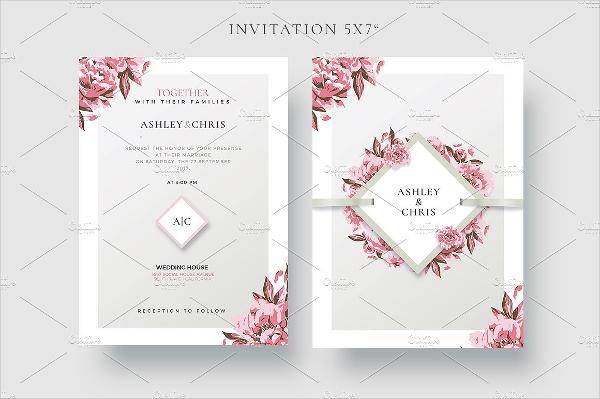 Creative Wedding Invitation Card Template