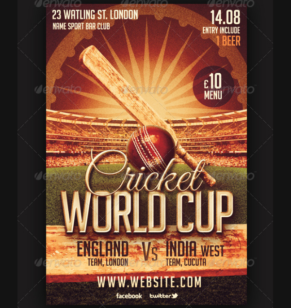 Cricket Cup Flyer Template