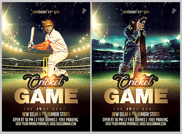 Cricket Event Flyer Template
