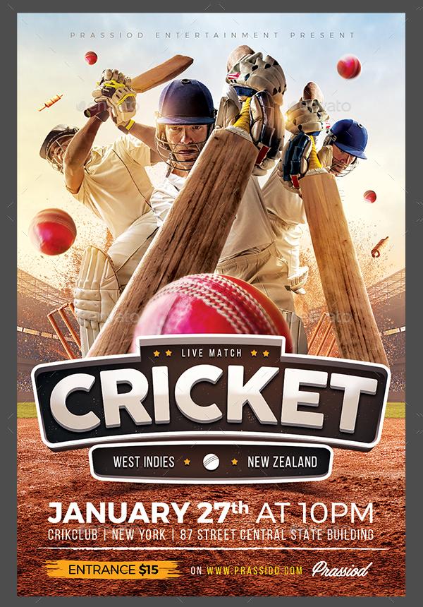 Cricket Match Flyer Template