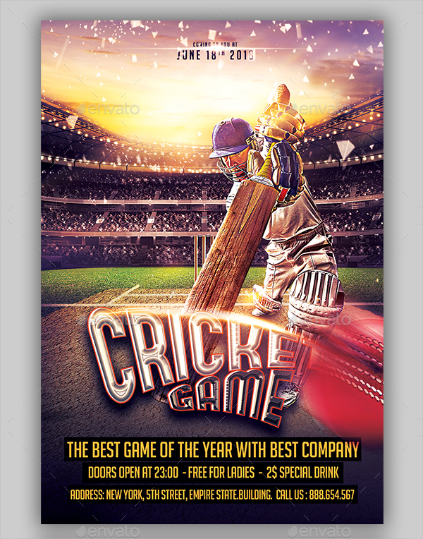 15  cricket flyer templates