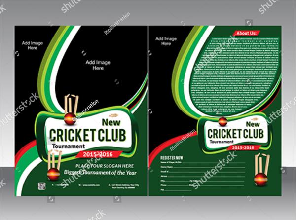 Cricket Vector Flyer Template