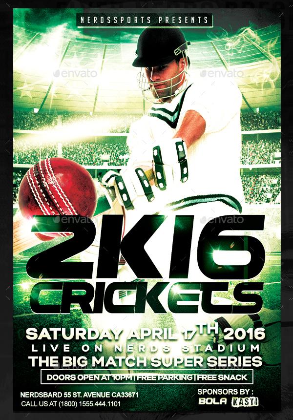 Crickets Championships Sports Flyer