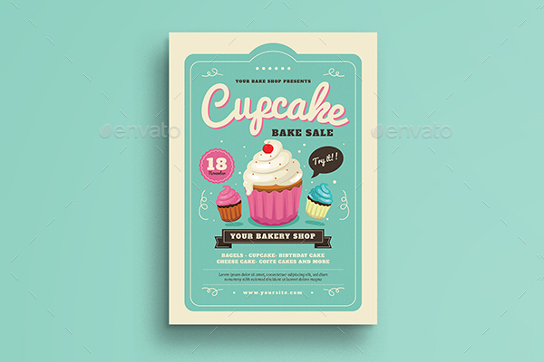 Cupcake Bake Sale Flyer Template
