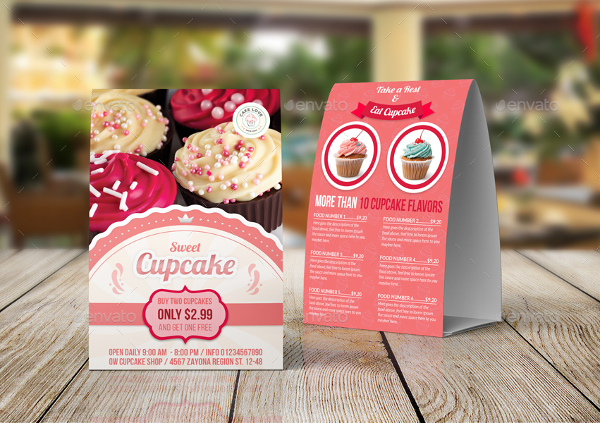 Cupcake Table Tent Templates