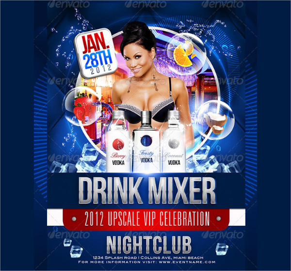 Drink Mix Party Flyer Templates