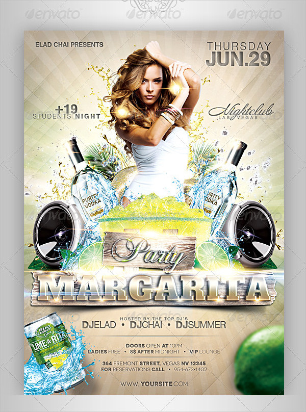 Event Drinks Party Flyer Template
