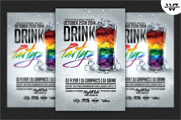 Night Drinks Party Flyer Templates