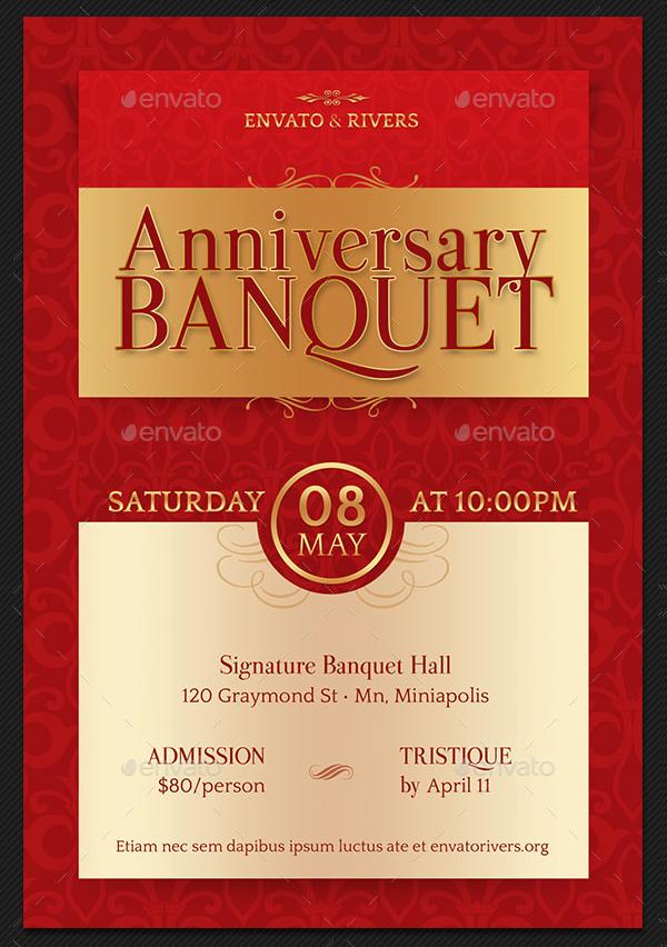 Elegant Banquet Hall Flyer Template