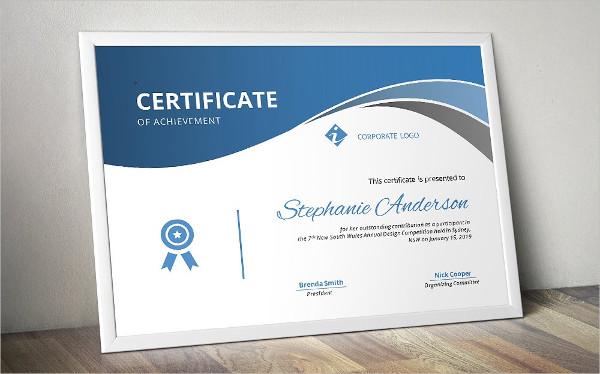 Elegant Curve Design Certificate Templates