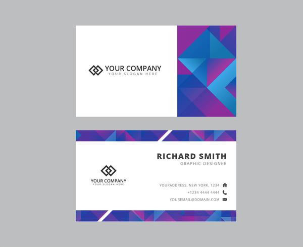 Elegant Triangle Business Card Template