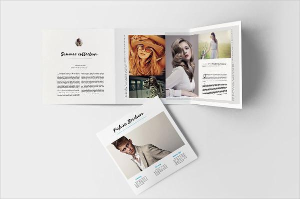 Square Fashion Brochure Template Design