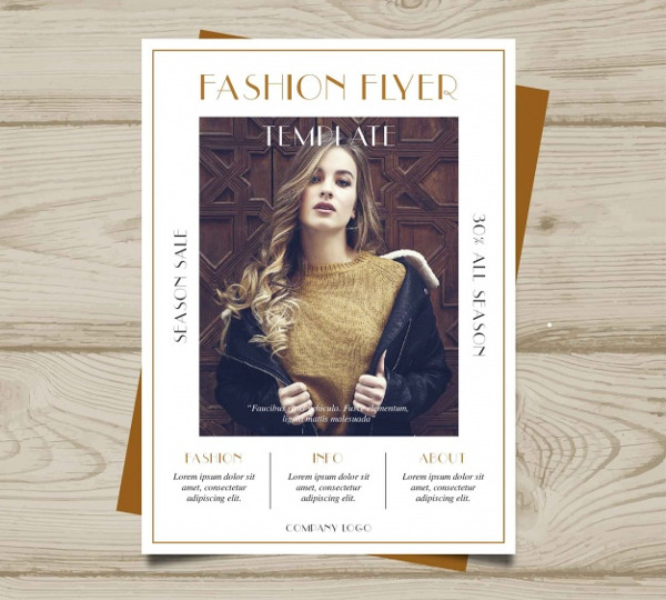 Free Vector Fashion Brochure Template