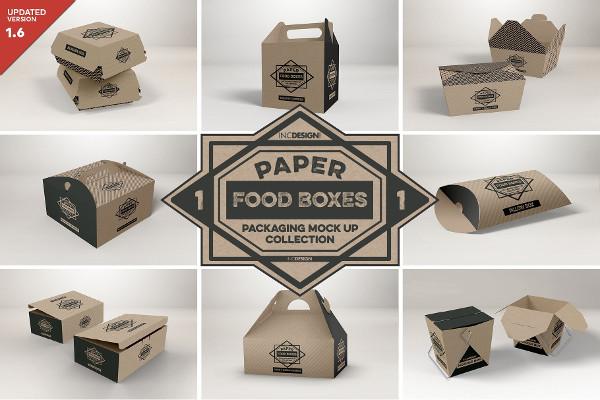 Clean Food Box Packaging Mockups