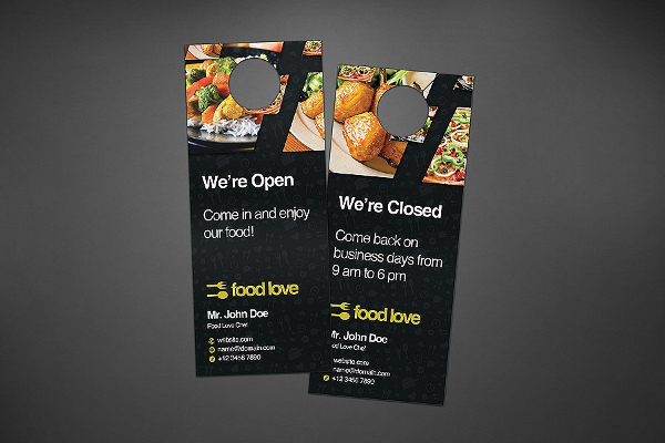 Food Love Door Hangers