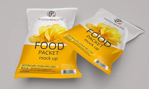 Food Packet Mockup