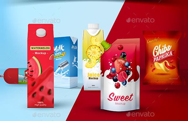 Sweet Food Packaging Mockup