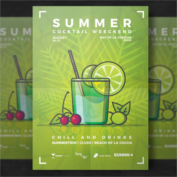 Free Download Drinks Party Flyer Templates