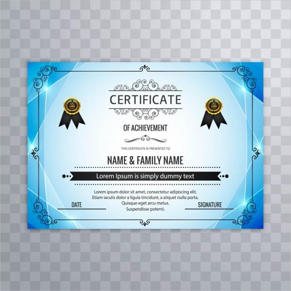 Free Download University Certificate Design Template