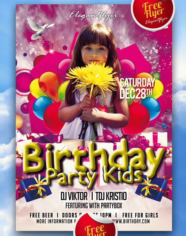 Free Kid Birthday Invitation Flyer