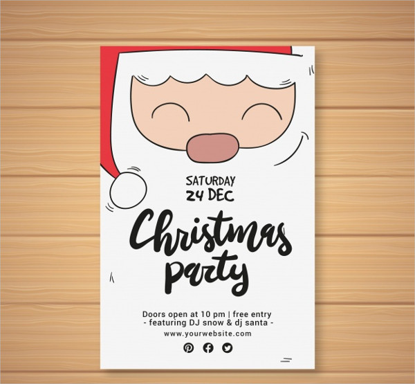 photograph about Free Printable Christmas Party Flyer Templates named 27+ Xmas Celebration Flyer Templates - PSD, Illustrator