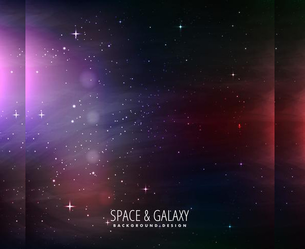 Free Space And Galaxy Background