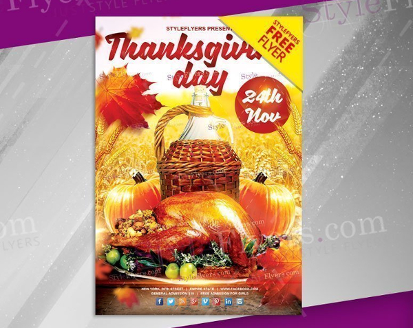Free Thanks Giving Day PSD