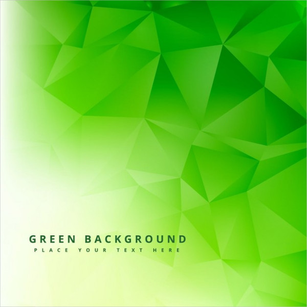 Free Vector Green Polygonal Abstract Background