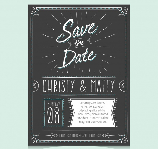 Free Wedding Invitation With Hand Drawn Style