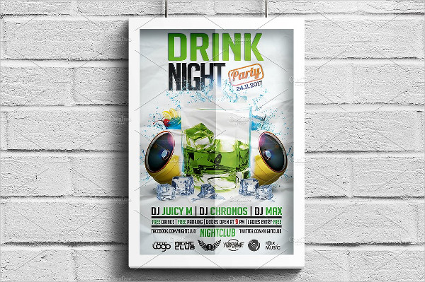 Fresh Drink Party Flyer Template
