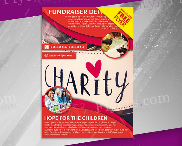 Fundraiser Free PSD Flyer Template