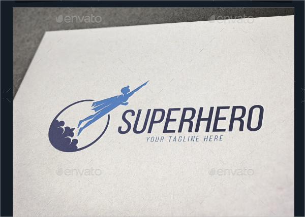Gaming Super Hero Logo Template