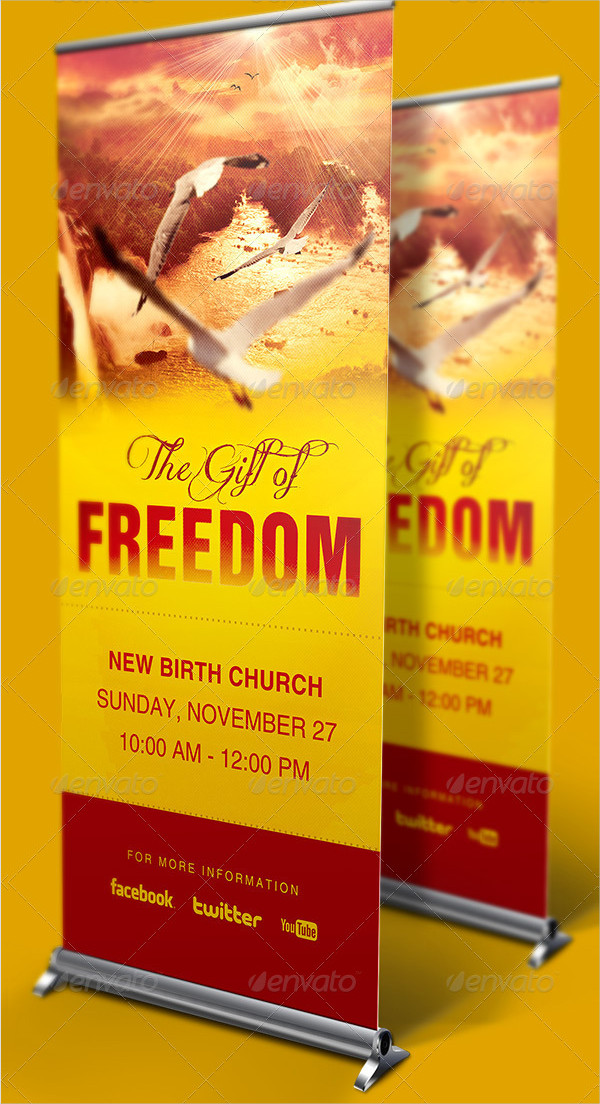 Gift Of Freedom Church Banner Signage Templates