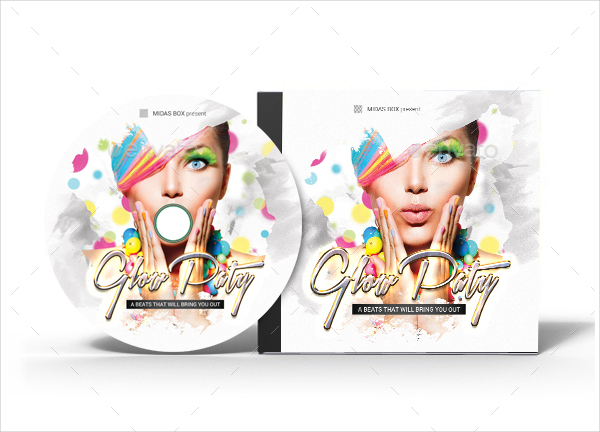 Glow Party CD Cover Music Template