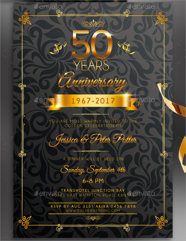 anniversary invitation card templates