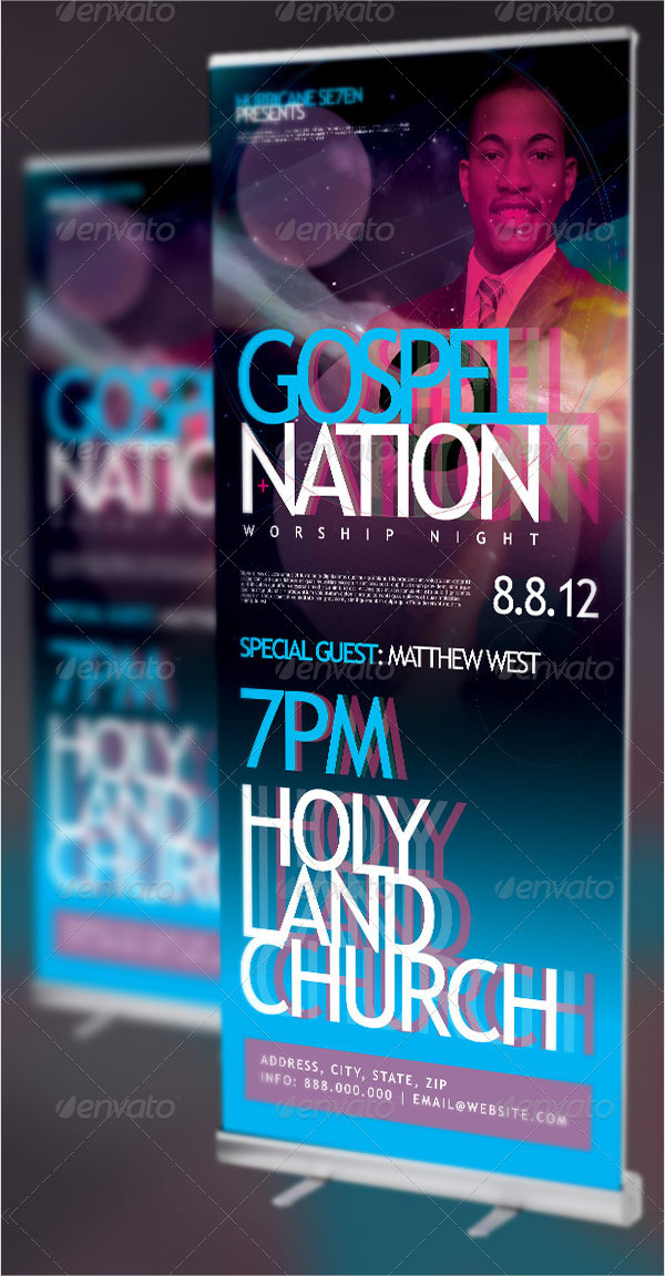 Gospel Nation Church Banner Templates