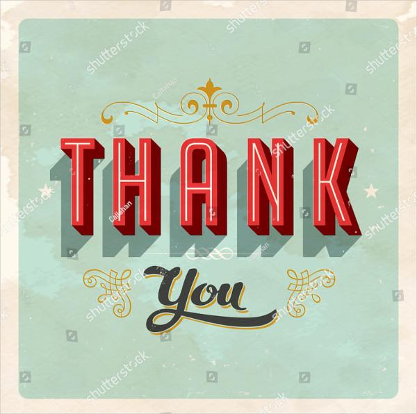 23 thank you card templates free premium download. Black Bedroom Furniture Sets. Home Design Ideas