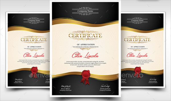 Graphic Design Certificate Templates