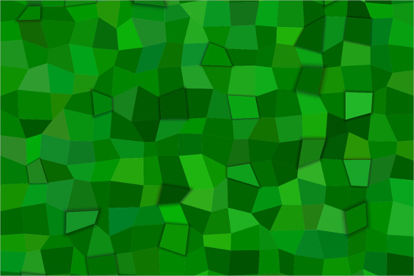 Green Rectangle With Mosaic Backgrounds