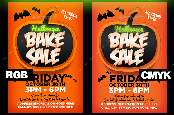 Halloween Bake Sale Event Flyer Template