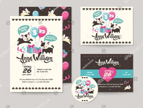 Happy Birthday Invitation Cards And Flyers