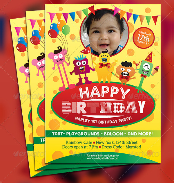 Happy Birthday Invitation Flyer