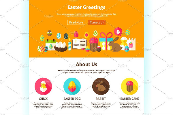 Happy Easter Greetings Banner Templates