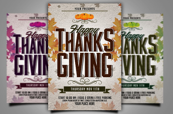 Happy Thanks Giving Flyer Template