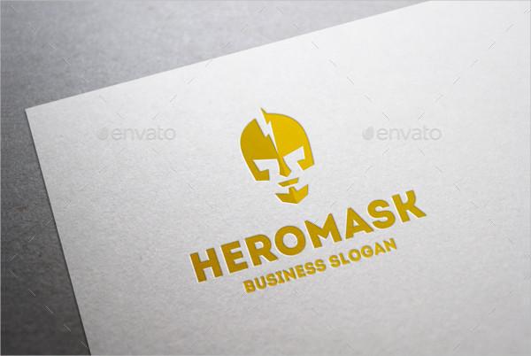 Super Hero Mask Logo Template