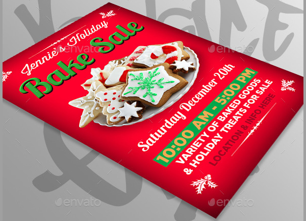 Holiday Bake Sale Design Flyer