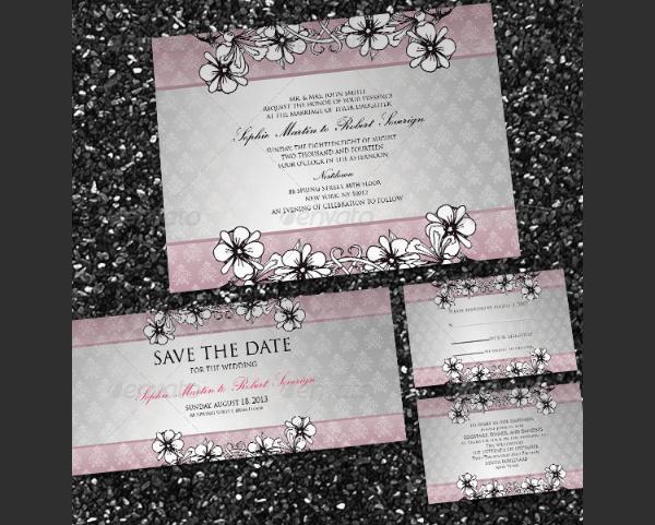 Items Modern Wedding Card
