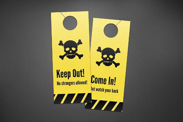 Keep Out Door Hangers