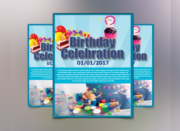 Abstract Kid Birthday Invitation Flyer