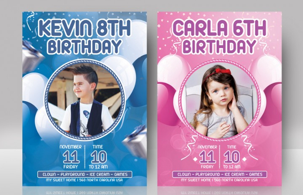 Kid Birthday PSD Flyer Template